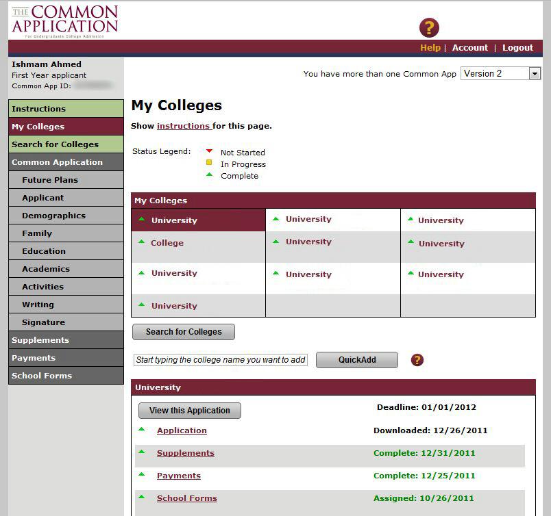 College essay prompts common app 2014